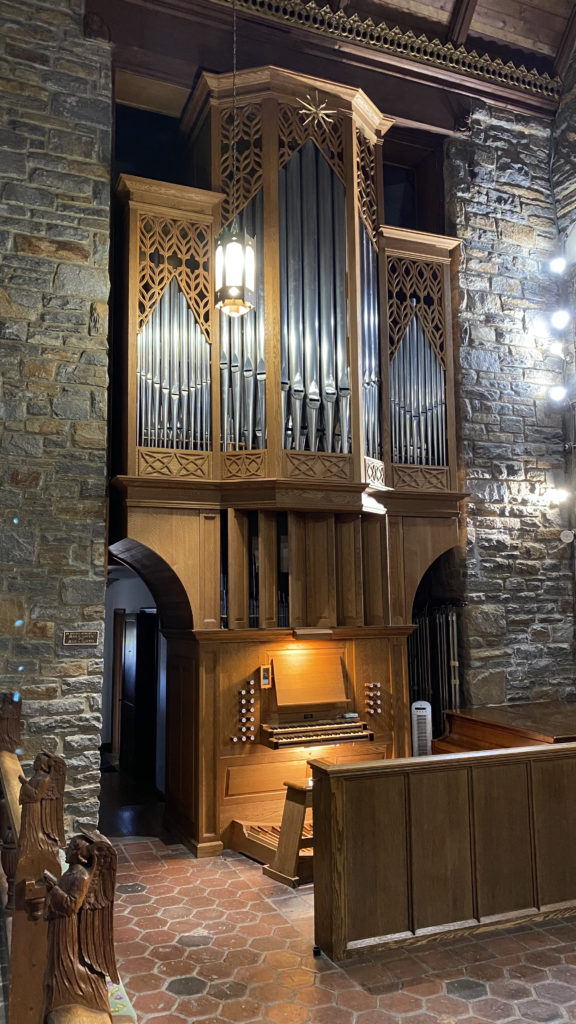 A photo of St. Mark's Wilhelm Pipe Organ.