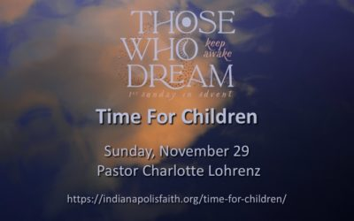 Time for Children for First Sunday in Advent, November 29