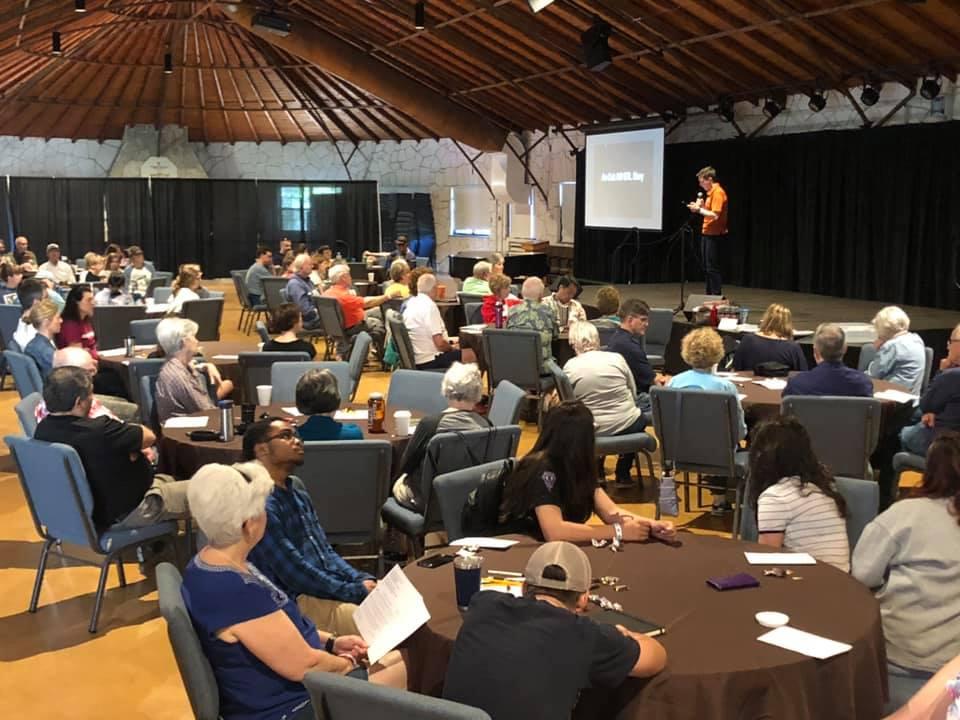 seminar lecture at a retreat