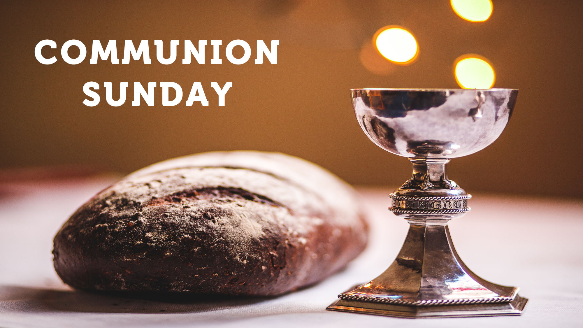 bread and chalice for communion