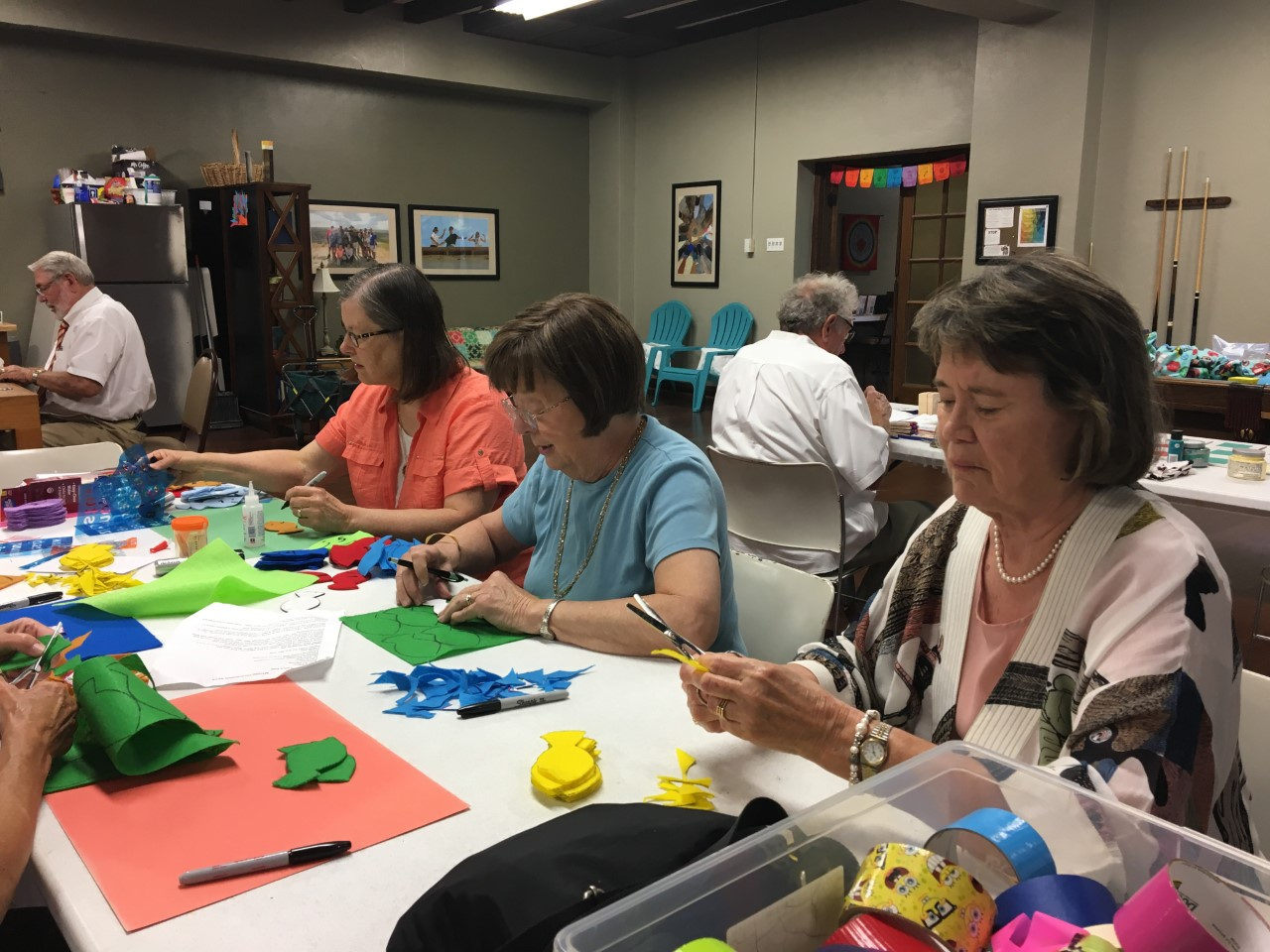women at a crafting table