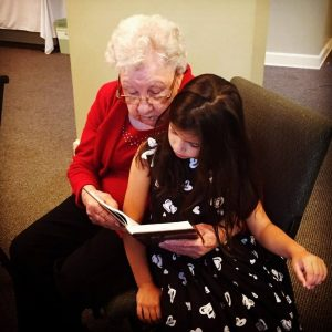 reading the bible, intergenerational, generations together