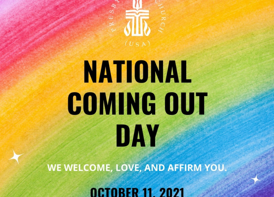 The PC(USA) Celebrates National Coming Out Day